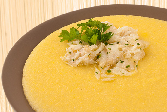 POLENTA WITH CREAMED DRIED CODFISH