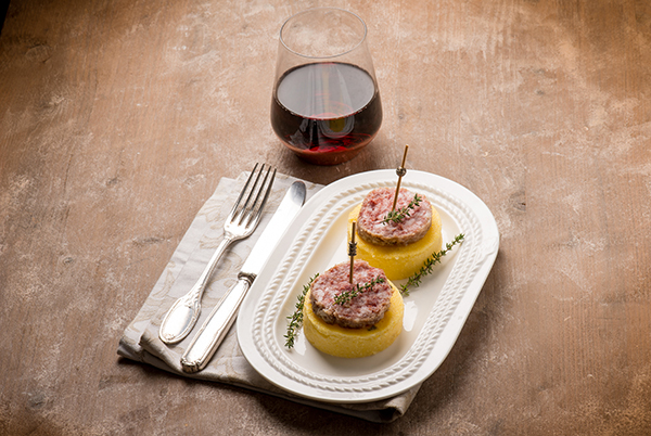 POLENTA MEDALLIONS WITH COTECHINO